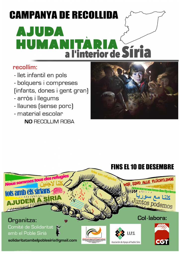 Campanya recollida Síria- CGT